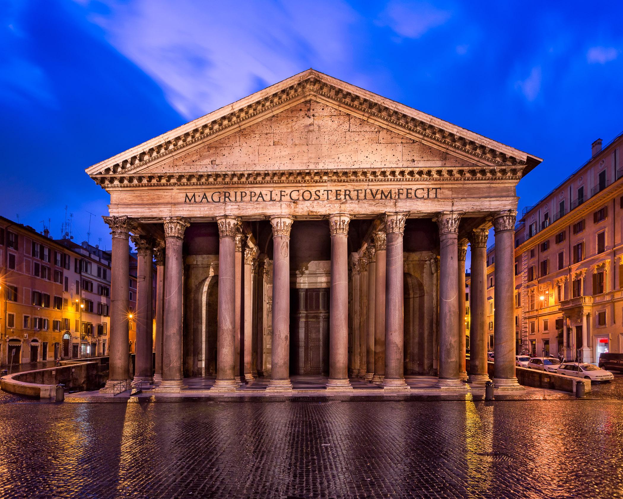 Pantheon and Piazza della Rotonda in the Morning, Rome, Italy