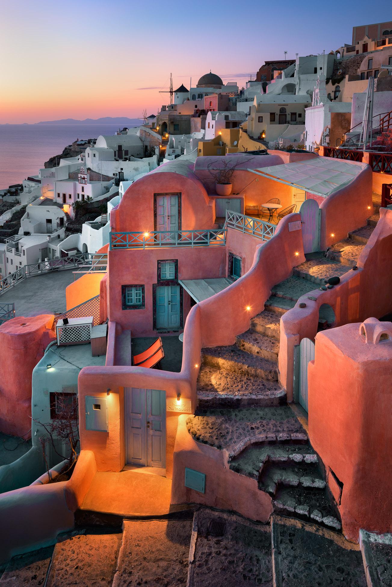 Oia Village in the Evening, Santorini, Greece